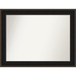 Wall Mirror Choose Your Custom Size - Extra Large, Mezzanine Espresso Wood