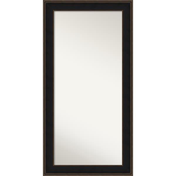Wall Mirror Choose Your Custom Size-Oversized, Mezzanine Espresso Wood - black/bronze