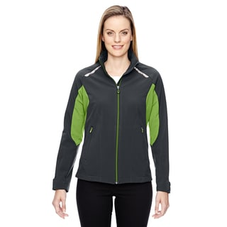 Excursion Women's Soft Shell With Laser Stitch Accents Carbon/Acid Green 472 Jacket