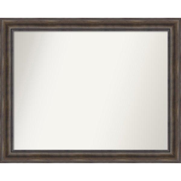 Wall Mirror Choose Your Custom Size - Medium, Rustic Pine Wood