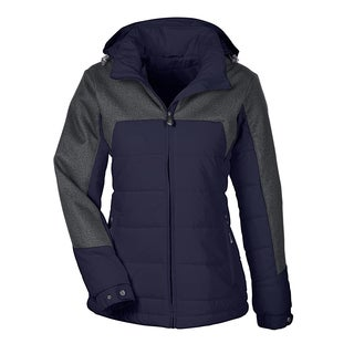 Excursion Women's Meridian Insulated With Melange Print Navy/Dark Grey Heathered 007 Jacket