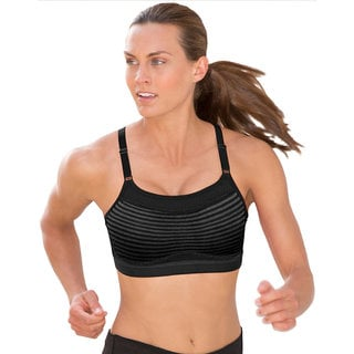 Champion 'The Show-Off' Solid-colored Nylon Sports Bra