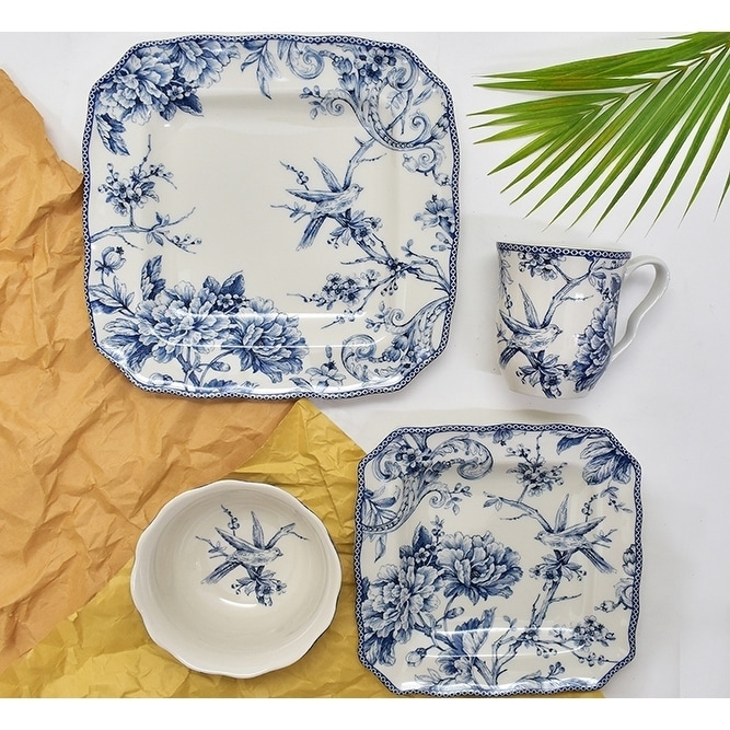Shop 222 Fifth Adelaide Blue 16 Piece Dinnerware Set Service For