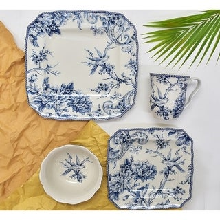 Adelaide Blue 16-piece Dinnerware Set  sc 1 st  Overstock & Square Dinnerware For Less | Overstock