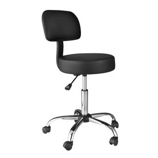 OneSpace 60-1019 Black Back Cushion Medical Stool