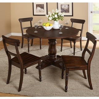 Simple Living Muses Weathered Walnut 5-Piece Pedestal Dining Set