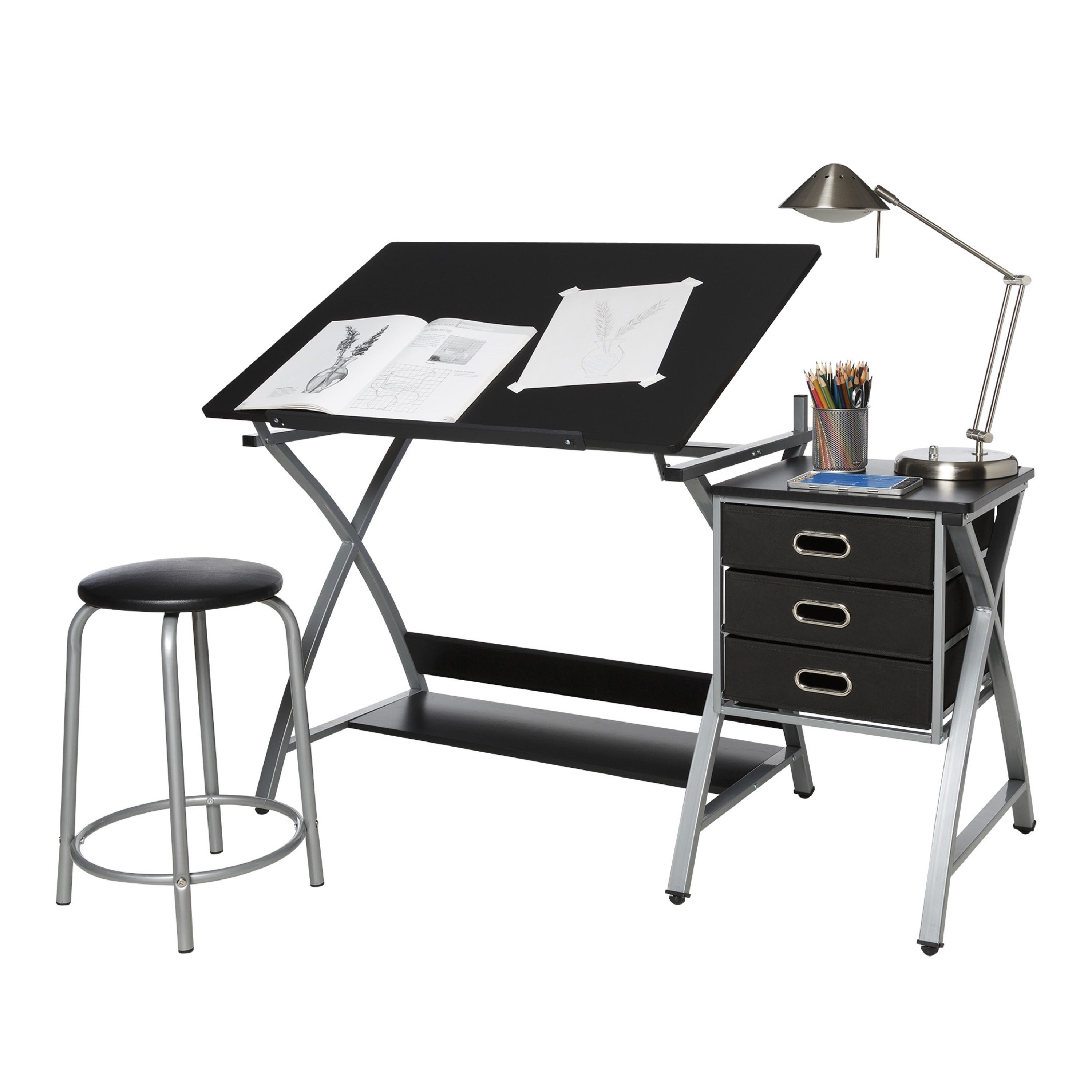Comfort Products OneSpace 50-CS03 Black and Silver Drafti...