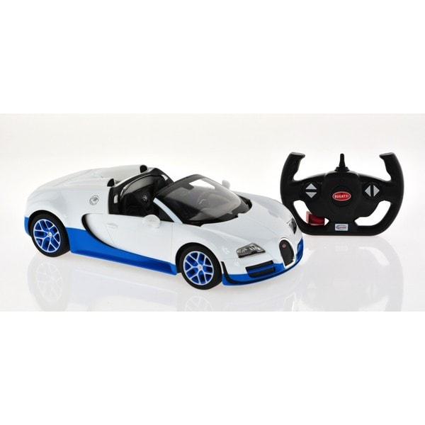 Rastar White 1:14-scale 2.4-gigahertz Bugatti Grand Sport Vitesse With USB Charger