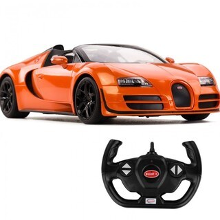 Rastar Orange 1:14 USB Charger 2.4-Gigahertz Bugatti Grand Sport Vitesse