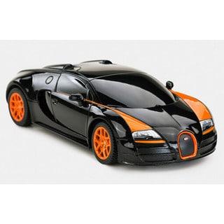 Rastar Black 1:14-scale 2.4-gigahertz Bugatti Grand Sport Vitesse With USB Charger