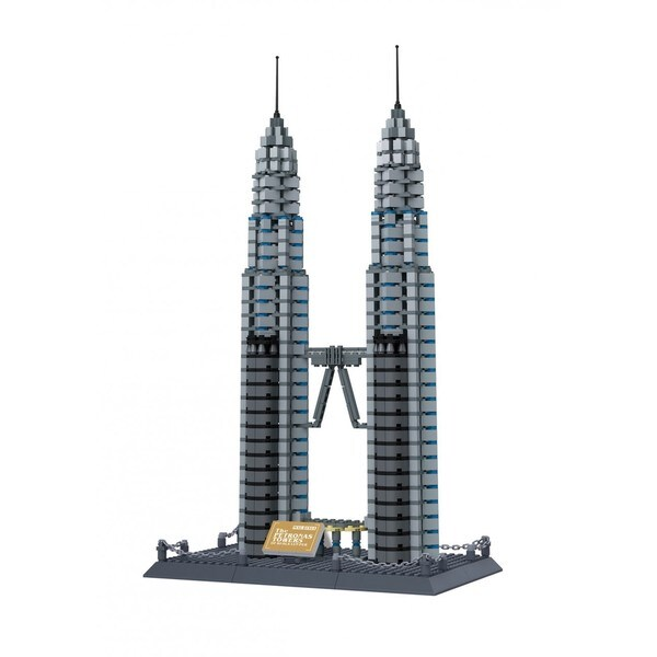 Wange The Petronas Towers of Kuala Pumpur Building Block Set