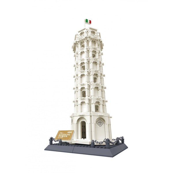 Wange The Leaning Tower of Pisa, Italy ABS Interlocking Bricks Set