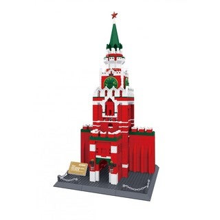 Wange The Spasskaya Tower of Moscow Kremlin Russia Brick Set