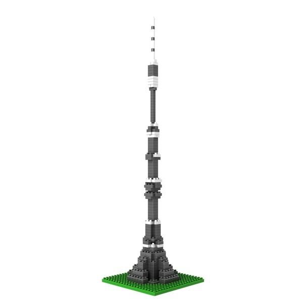Wange Ostankino Tower Micro Blocks Toy Set