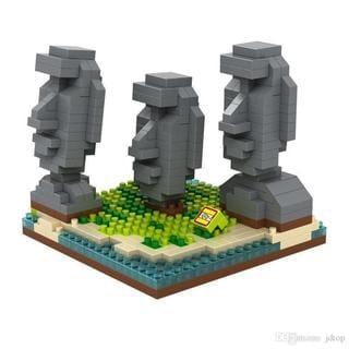 Link to Wange Easter Island Block Set Similar Items in Building Blocks & Sets