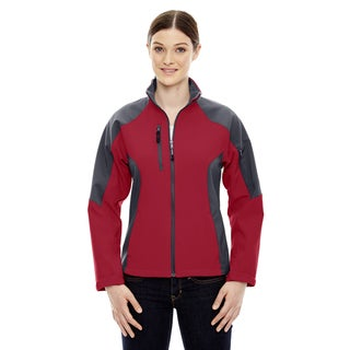 Compass Colorblock Three-Layer Fleece Bonded Women's Soft Shell Molten Red 751 Jacket