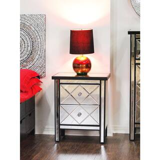 glass bedroom furniture. Heather Ann Mirror 2 drawer Cabinet Glass Bedroom Furniture For Less  Overstock com
