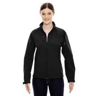 Compass Colorblock Three-Layer Fleece Bonded Women's Soft Shell Black 703 Jacket