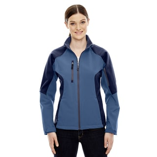 Compass Colorblock Three-Layer Fleece Bonded Women's Soft Shell Blue Ridge 411 Jacket