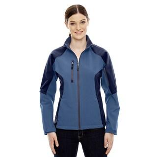 Compass Colorblock Three-Layer Fleece Bonded Women's Soft Shell Blue Ridge 411 Jacket