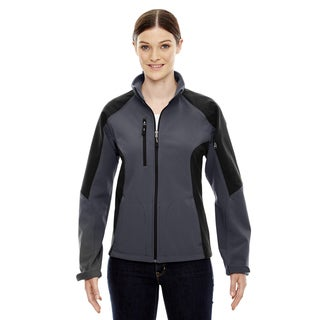 Compass Colorblock Three-Layer Fleece Bonded Women's Soft Shell Fossil Grey 887 Jacket