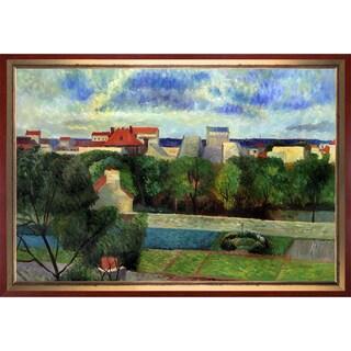Paul Gauguin 'The Market Gardens of Vaugirard, 1879' Hand Painted Framed Canvas Art