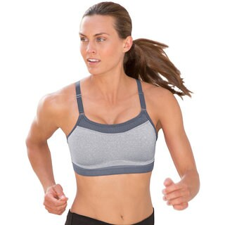 The Show-Off Women's Oxford Heathered/Medium Grey Sports Bra