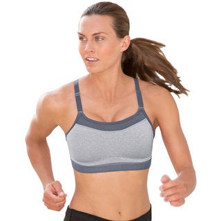 The Show-Off Women's Oxford Heathered/Medium Grey Sports Bra (2 options available)