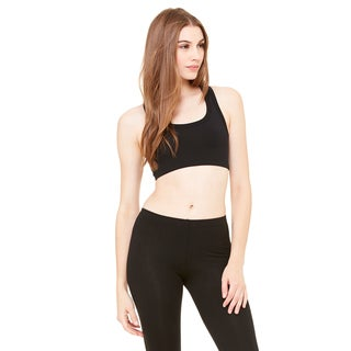 Nylon/Spandex Women's Black Sports Bra