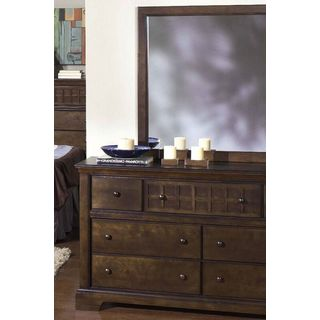 Casual Traditions Espresso Dresser and Mirror Set