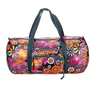 Sacs of Life Floral Full-size Collapsible Duffel Bag