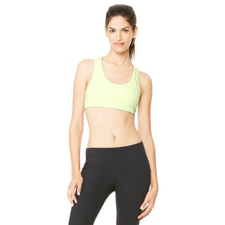 Dry-Wicking Women's Sport Safety Yellow Sports Bra