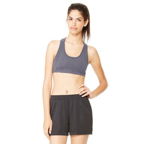 Dry-Wicking Women's Dark Grey Heathered Sports Bra