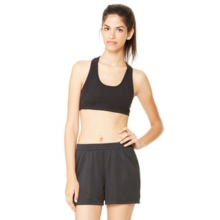 Dry-Wicking Women's Black Sports Bra