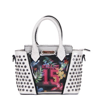 Nicole Lee 15 Print Studded Embellished Mini Handbag