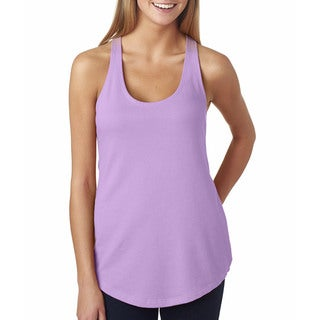 Next Level Women's The Terry Racerback Lilac Tank