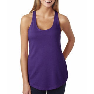 Next Level Women's The Terry Racerback Purple Rush Tank