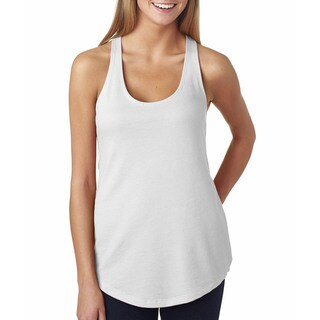 Next Level Women's The Terry Racerback White Tank