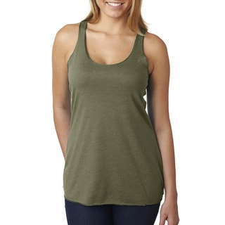 Next Level Women's Tri-Blend Racerback Military Green Tank