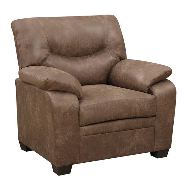 Global furniture mocha microfiber arm chair free