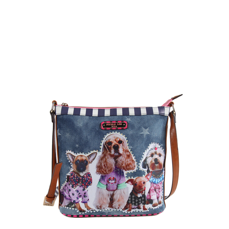Nicole Lee Sidney Dog Family Print Crossbody Handbag (Dog...