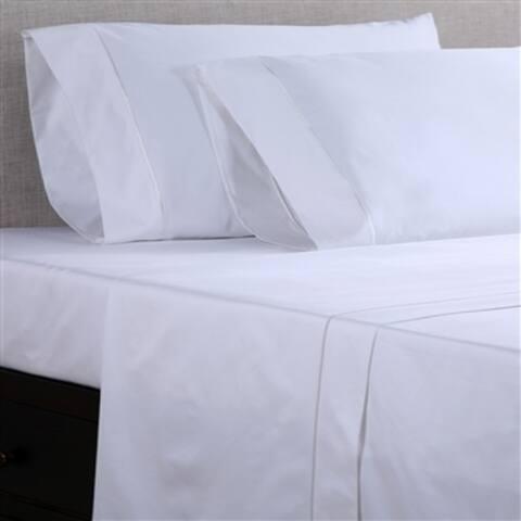 Affluence Hospitality 250 Cotton/ Polyester Flat Sheets (Set of 12)