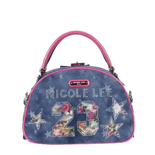 Nicole Lee Lorie 23 Print Bowler Handbag