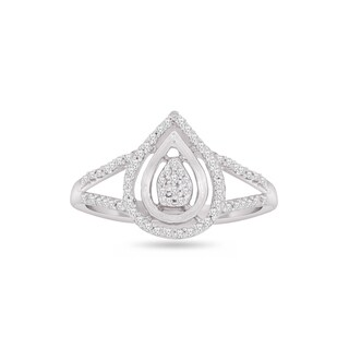 Trillion Designs Sterling Silver 1/4ct TDW Diamond engagement ring and