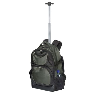Goodhope Olive Green Rolling 15-inch Laptop Backpack