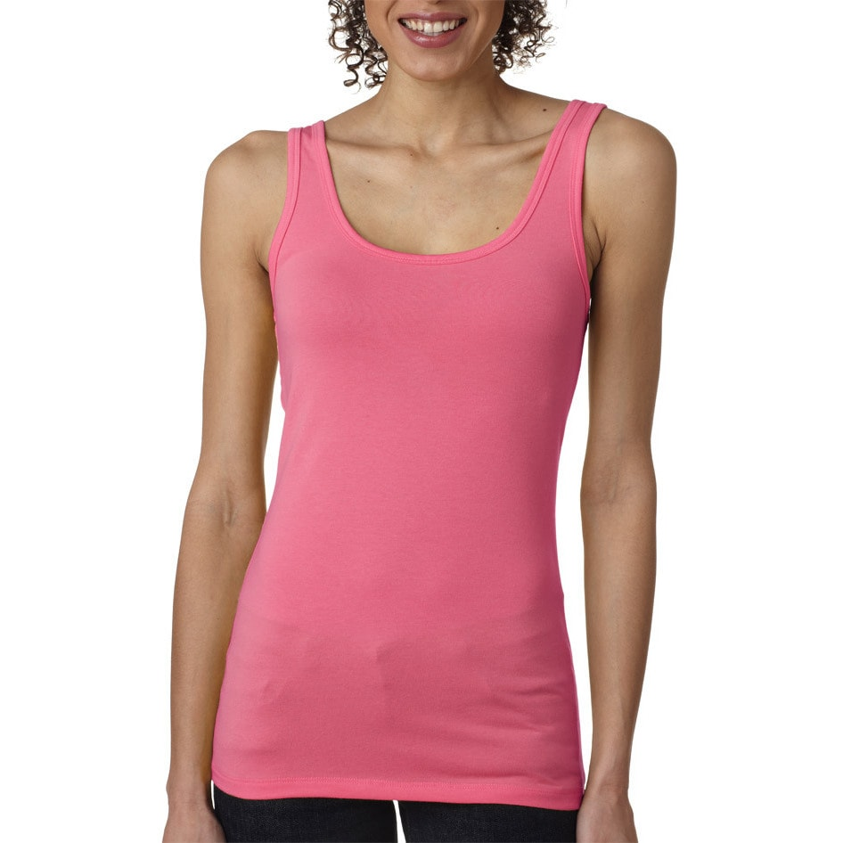 Next Level Womens The Jersey Hot Pink Tank