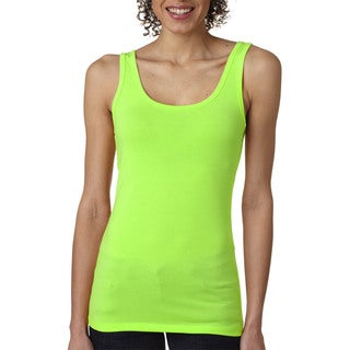 Next Level Women's The Jersey Neon Heather Green Tank