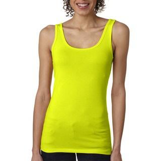 Next Level Women's The Jersey Neon Yellow Tank