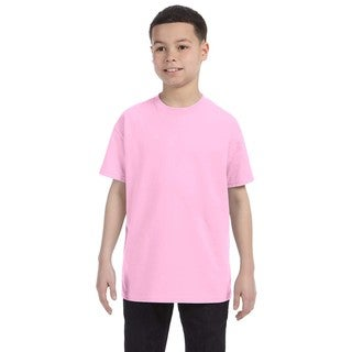 Boys' Pink Heavy Cotton T-Shirt