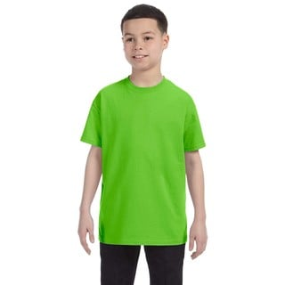 Boys' Lime Heavy Cotton T-shirt